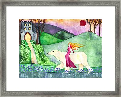 East Of The Sun And West Of The Moon Framed Print by Cat Athena Louise