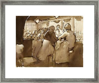 East Village Bar 1984 Framed Print by Thor Wickstrom