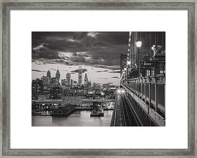 Eastbound Encounter In Black And White Framed Print by Eduard Moldoveanu