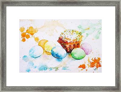 Easter Colors Framed Print by Zaira Dzhaubaeva