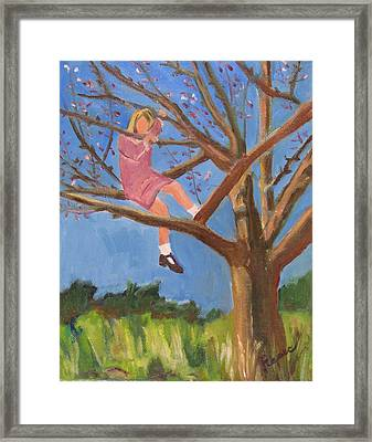 Easter In The Apple Tree Framed Print by Betty Pieper