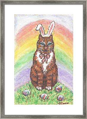 Easter Kitty Framed Print by Linda Mears