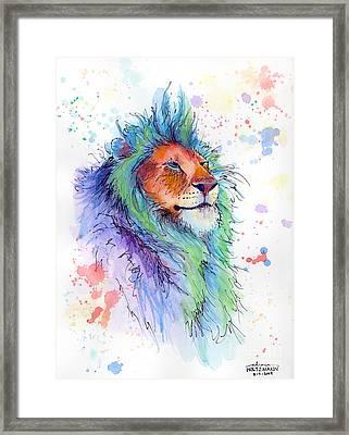 Easter Lion Framed Print by Arleana Holtzmann
