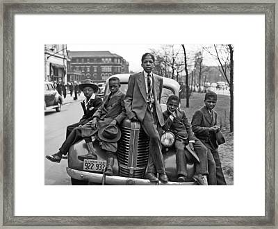 Easter On Chicago Southside Framed Print by Underwood Archives