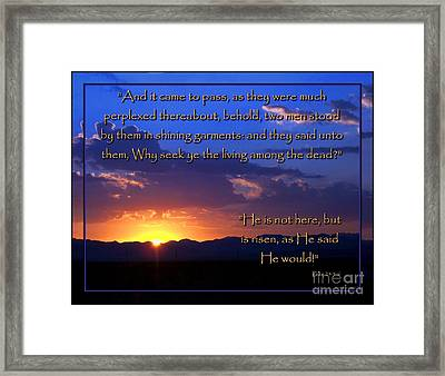 Easter Sunrise - He Is Risen Framed Print by Glenn McCarthy Art and Photography