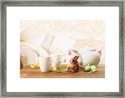 Easter Tea Break Framed Print by Amanda And Christopher Elwell