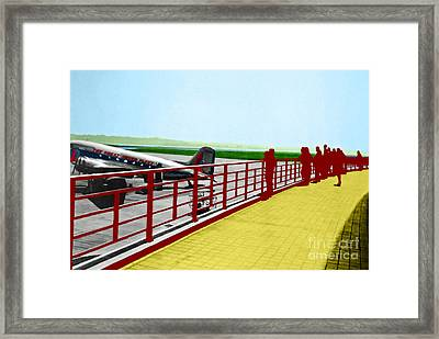 Eastern Airlines At Dca Framed Print by Jost Houk