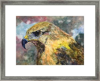 Eastern Clan Of The Hawk Framed Print by Susan Cafarelli Burke