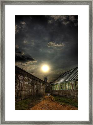 Eastern State Penitentiary Sunset Framed Print by Kim Zier