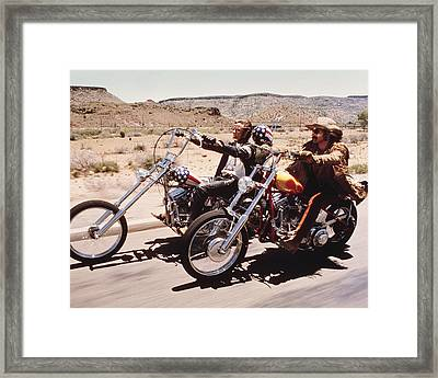 Easy Rider  Framed Print by Silver Screen