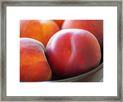 Eat A Peach Framed Print by Rona Black