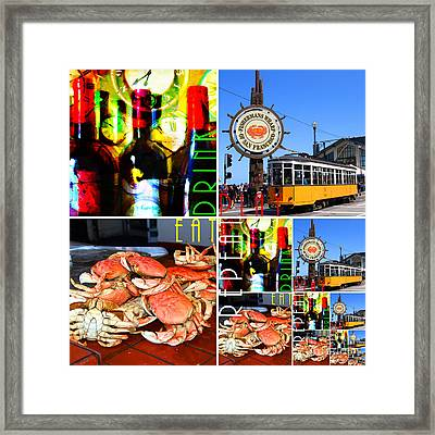 Eat Drink Play Repeat 20140713 San Francisco Framed Print by Wingsdomain Art and Photography