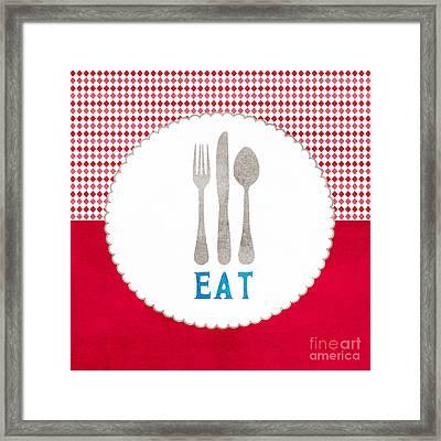 Eat Framed Print by Linda Woods