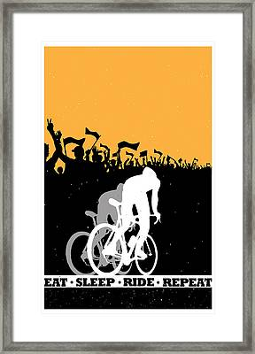 Eat Sleep Ride Repeat Framed Print by Sassan Filsoof