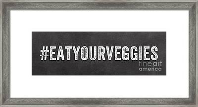 Eat Your Veggies Framed Print by Linda Woods