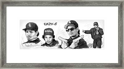 Eazy-e Art Drawing Sketch Poster Framed Print by Kim Wang