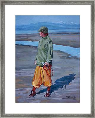 Ebb Tide Framed Print by Derrick Higgins