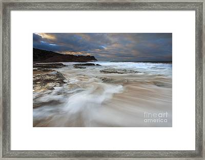 Ebbtide Sunrise Framed Print by Mike Dawson