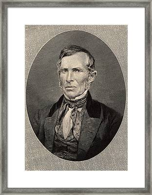 Ebenezer Evans Framed Print by Universal History Archive/uig