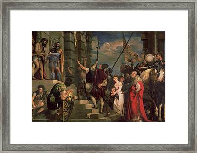 Ecce Homo, 1543 Oil On Canvas Framed Print by Titian