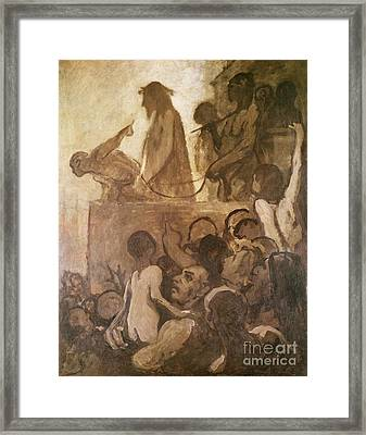 Ecce Homo Framed Print by Honore Daumier