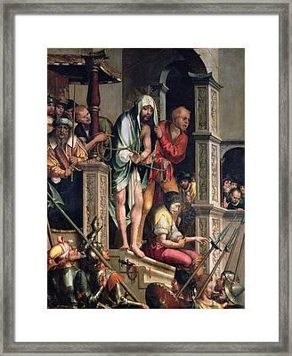 Ecce Homo  Framed Print by Cristovao de Figueiredo