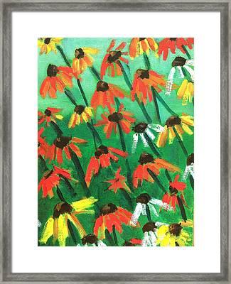 Echinacea Framed Print by Kendall Wishnick Adams
