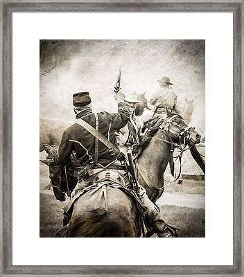 Echoes Of Battle Framed Print by Steven Bateson