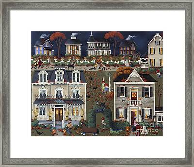 Echoes Of Trick Or Treat Framed Print by Catherine Holman