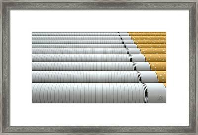 Ecigarette Evolution Framed Print by Allan Swart