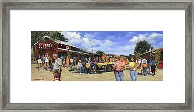 Eckerts Market Belleville Grandsons  Framed Print by Don  Langeneckert