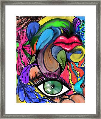 Eclectic Me Framed Print by Tiffany Selig