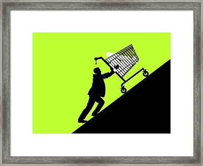 Economic Retail Support Framed Print by Smetek