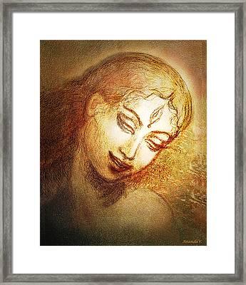 Ecstasy  Framed Print by Ananda Vdovic