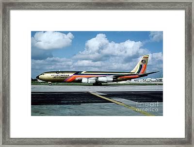 Ecuatoriana Jet Cargo Boeing 707-321c Hc-bgp Framed Print by Wernher Krutein