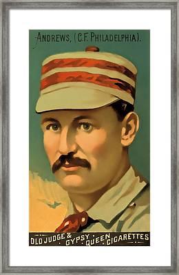 Ed Andrews Baseball Card Framed Print by David Letts