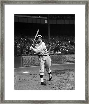 Eddie Collins Sr. Warm Up Swing Framed Print by Retro Images Archive