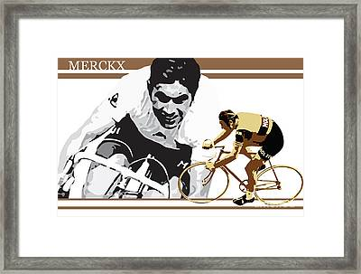 Eddy Merckx Framed Print by Sassan Filsoof