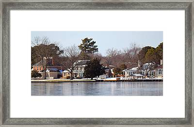 Edenton Waterfront Framed Print by Carolyn Ricks