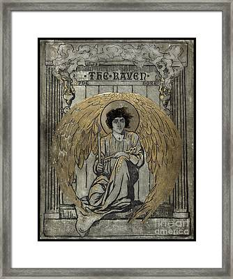 Edgar Allen Poe The Raven Cover  Framed Print by Pierpont Bay Archives