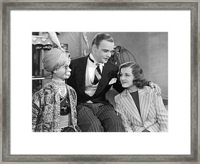 Edgar Bergen And Charlie Mccarthy Framed Print by Underwood Archives
