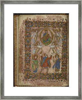 Edgar Offers Charter To Christ Framed Print by British Library