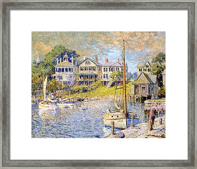 Edgartown  Martha's Vineyard Framed Print by Colin Campbell Cooper