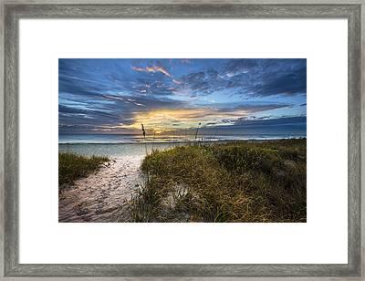 Edge Of Dawn Framed Print by Debra and Dave Vanderlaan