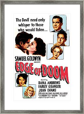 Edge Of Doom, Us Poster,  Center Framed Print by Everett