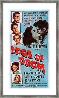 Edge Of Doom, Us Poster, Left From Top Framed Print by Everett