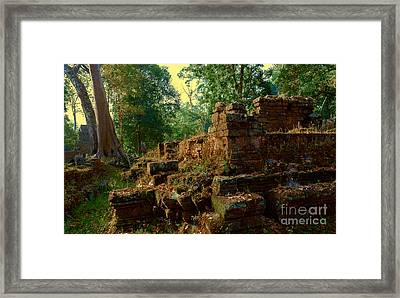 Edge Of Ruin Framed Print by Julian Cook