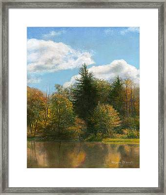Edge Of The Pond Framed Print by Wayne Daniels