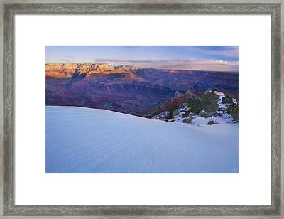 Edge Of Winter Framed Print by Peter Coskun