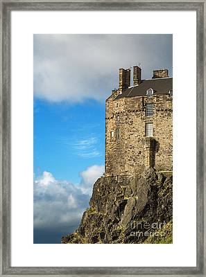 Edinburgh Castle Detail Framed Print by Jane Rix